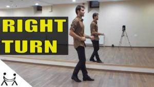 Cursuri De Dans Salsa | Miscari De Baza | Intoarcerea Pe Dreapta