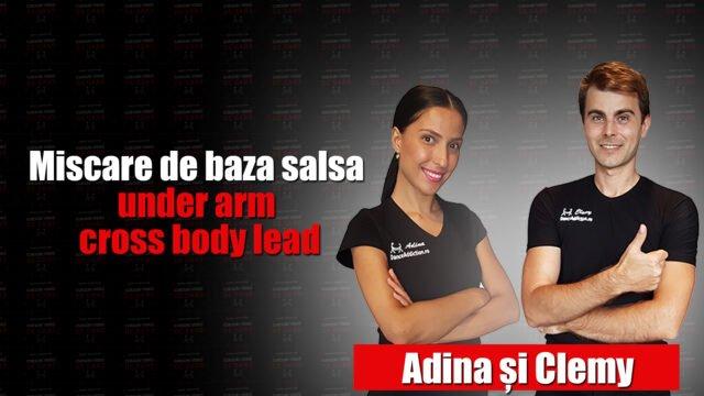 Miscare de baza salsa / under arm cross body lead